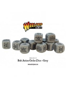 Bolt Action Orders Dice Grey