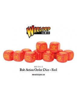 Bolt Action Orders Dice Red