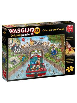 1000-Wasgij Original 33 Calm on the Canal!